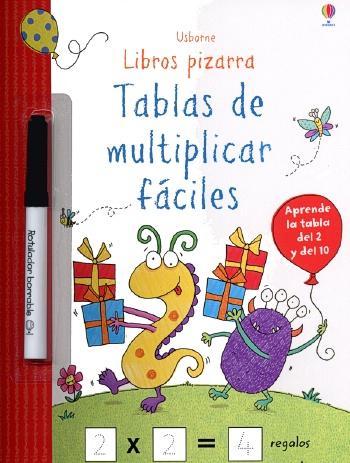 TABLAS DE MULTIPLICAR FACILES. LIBROS PIZARRA
