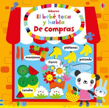 DE COMPRAS. EL BEBE TOCA Y HABLA