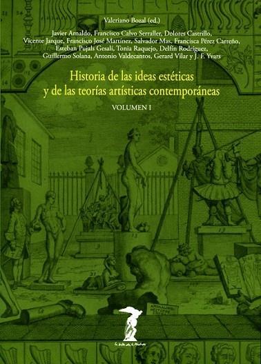 HISTORIA DE LAS IDEAS ESTÉTICAS Y DE LAS TEORIAS ARTISTICAS CONTEMPORANEAS 1