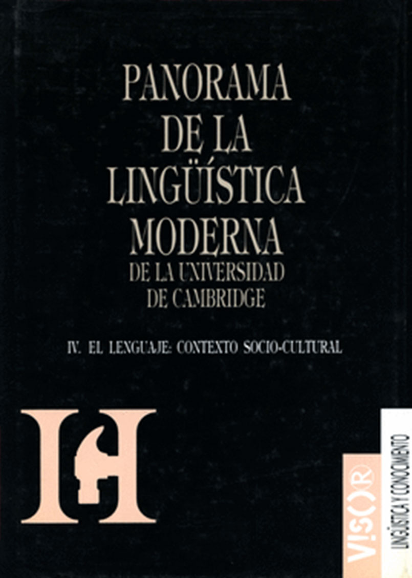PANORAMA DE LA LINGUISTICA MODERNA IV