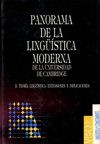 PANORAMA DE LA LINGUISTICA MODERNA II